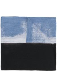 Bufanda de lana azul marino de Jil Sander