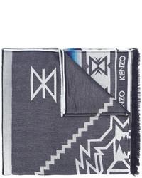 Bufanda de lana azul marino de Kenzo