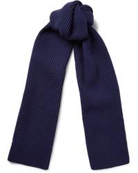 Bufanda de lana azul marino de Lanvin