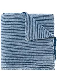 Bufanda de lana azul de Stone Island