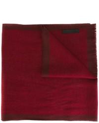 Bufanda de lana burdeos de Ermenegildo Zegna