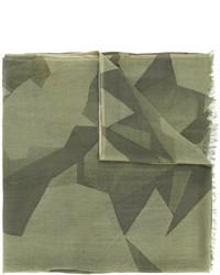 Bufanda de lana con estampado geométrico verde oliva de Closed