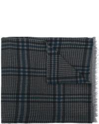 Bufanda de lana de pata de gallo azul marino de Valentino