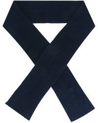 Bufanda de lana de punto azul marino de A.P.C.