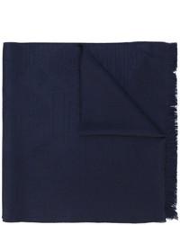 Bufanda de lana de punto azul marino de Emporio Armani