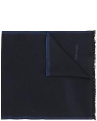 Bufanda de lana de punto azul marino de Tom Ford