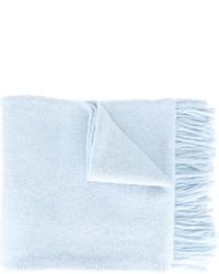 Bufanda de lana de punto celeste de AMI Alexandre Mattiussi