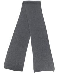 Bufanda de lana de punto en gris oscuro de Canali