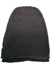 Bufanda de lana de punto en gris oscuro de Isabel Benenato