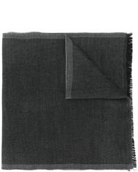 Bufanda de lana de punto en gris oscuro de Tom Ford
