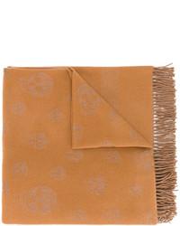 Bufanda de lana de punto en tabaco de Alexander McQueen