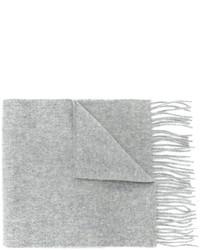 Bufanda de lana de punto gris de Pringle