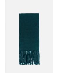 Bufanda de lana de punto verde oscuro de AMI Alexandre Mattiussi