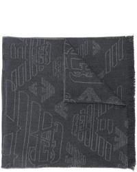 Bufanda de lana en gris oscuro de Emporio Armani