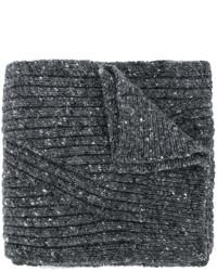 Bufanda de lana en gris oscuro de Pringle