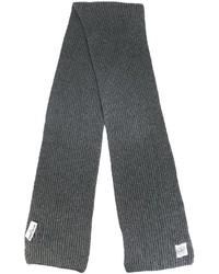 Bufanda de lana en gris oscuro de Stone Island