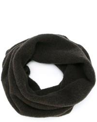 Bufanda de lana en marrón oscuro de Isabel Benenato