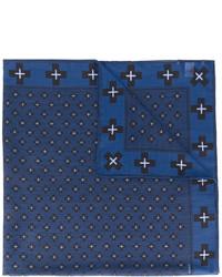 Bufanda de lana estampada azul marino de Givenchy