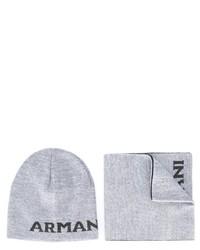 Bufanda de lana gris de Armani Junior
