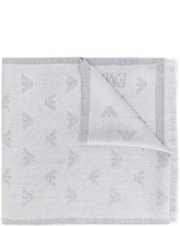 Bufanda de lana gris de Emporio Armani