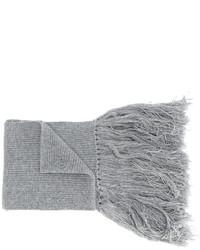 Bufanda de lana gris de Lanvin