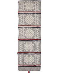 Bufanda de lana gris de Thom Browne