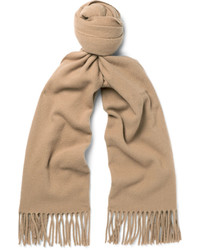 Bufanda de lana marrón claro de Acne Studios
