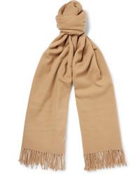 Bufanda de lana marrón claro