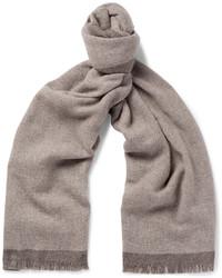 Bufanda de lana marrón claro de Ermenegildo Zegna