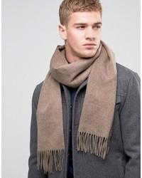 Bufanda de lana marrón claro de Selected