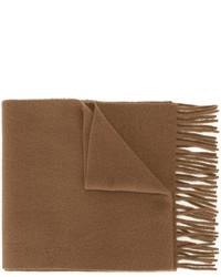 Bufanda de lana marrón de AMI Alexandre Mattiussi
