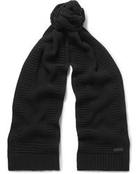 Bufanda de lana negra de Belstaff