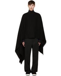 Bufanda de lana negra de Lemaire