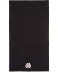 Bufanda de lana negra de Moncler