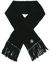 Bufanda de lana negra de Philipp Plein
