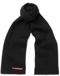 Bufanda de lana negra de Prada