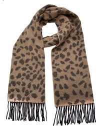 Bufanda de leopardo en beige de Lucien Pellat-Finet