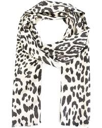 Bufanda de leopardo en negro y blanco de Haider Ackermann