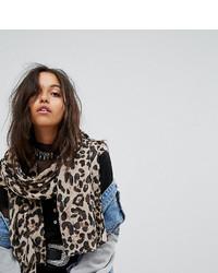 Bufanda de leopardo marrón claro