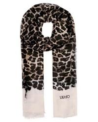 Bufanda de Leopardo Negra de Liu Jo