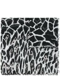 Bufanda de Leopardo Negra de Roberto Cavalli