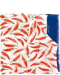 Bufanda de lino estampada azul marino de Kiton