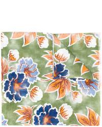 Bufanda de lino estampada verde de Kiton