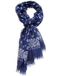 Bufanda de paisley azul