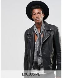 Bufanda de paisley negra de Reclaimed Vintage