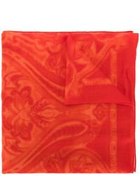 Bufanda de paisley roja de Etro