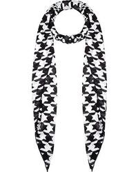 Bufanda de pata de gallo en negro y blanco de Balmain