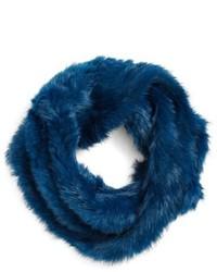 Bufanda de pelo azul