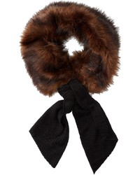 Bufanda de pelo en marrón oscuro