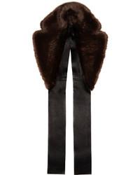 Bufanda de pelo en marrón oscuro de Calvin Klein Collection